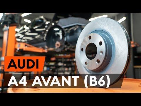 Как заменить передние тормозные диски на AUDI A4 B6 (8E5) [ВИДЕОУРОК AUTODOC]