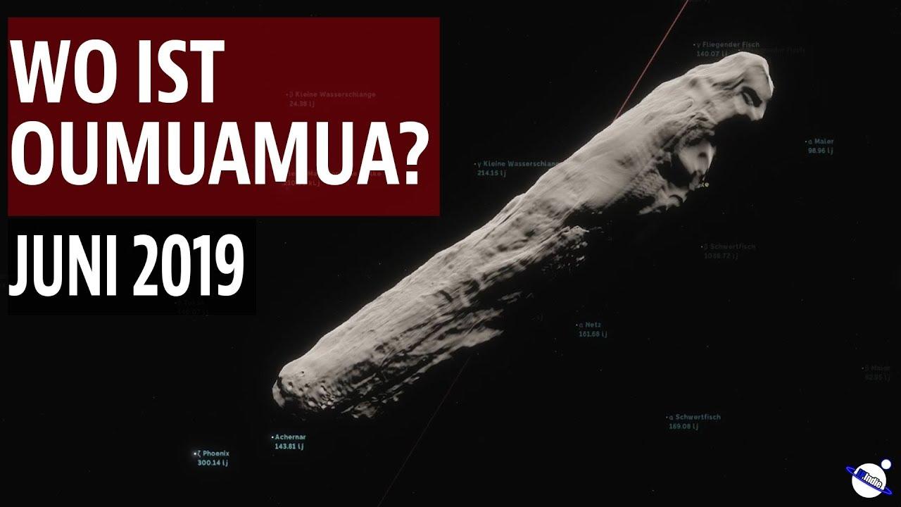 Wo ist Oumuamua? - Juni 2019
