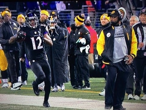 Steelers coach Mike Tomlin stops Jacoby Jones touchdown