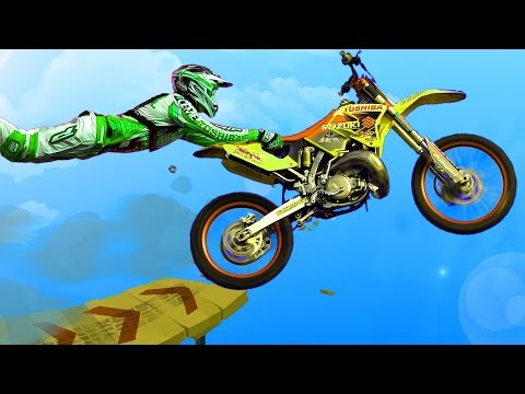 Stunt Dirt Bike 2, трюки на мотоцикле, игра для мальчиков