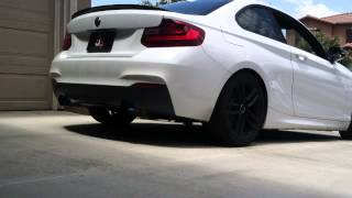 bmw f22 228i muffler delete cold start