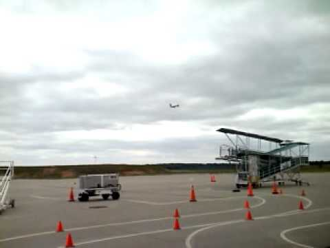Plane taking off at Branson Airport