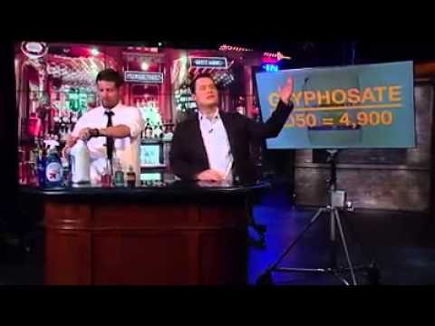 Guy drinks Glyphosate / Roundup on Camera