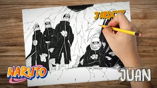 Drawing Six Pain (Naruto Shippuden) By Jardc87