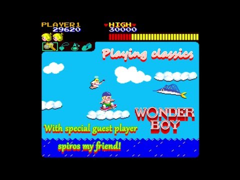 Playing classics Wonder boy with special guest spiros as the player!