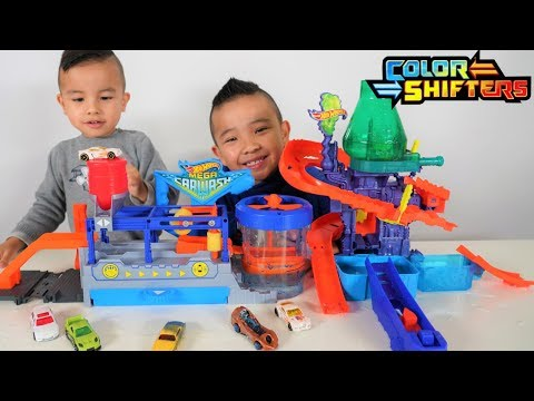 Mega Car Wash Hot Wheels Color Shifters Color Splash Science Lab Playset  CKN Toys