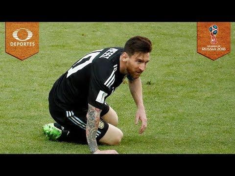 Messi falla penal   Argentina 1 - 1 Islandia   Mundial Rusia 2018
