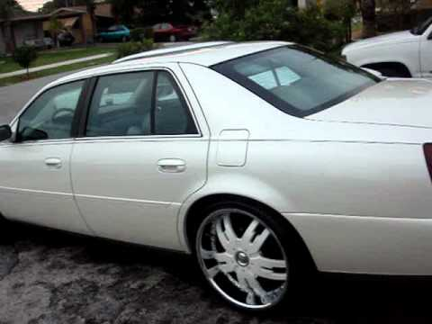 White On White Big Boy Cadillac On 24 Quot Rims Quot All White