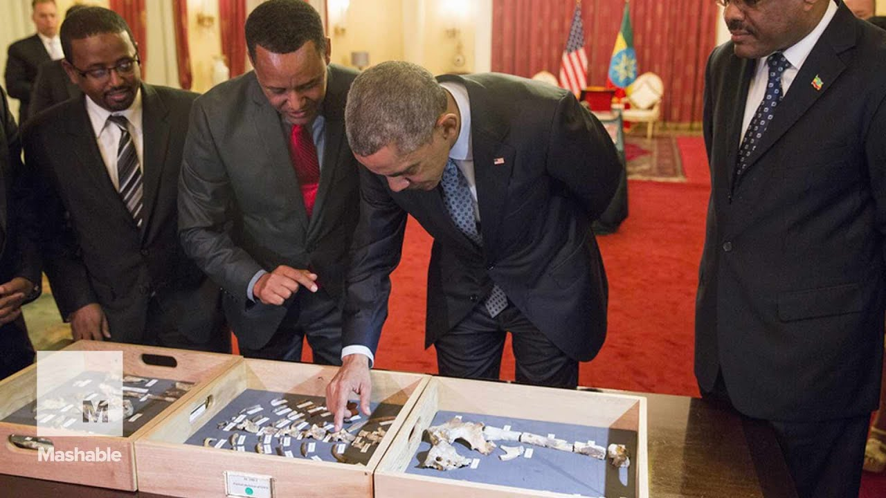 Obama meets Lucy, a 3.2 million-year-old human ancestor | Mashable
