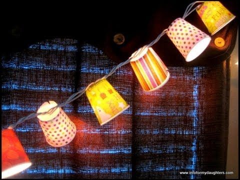 Diy Construction String Lights : DIY Halloween String Lights.avi - YouTube