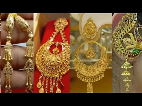 gold-earring-design-with-weight-and-price-//#stylish-earring-design-for-wedding
