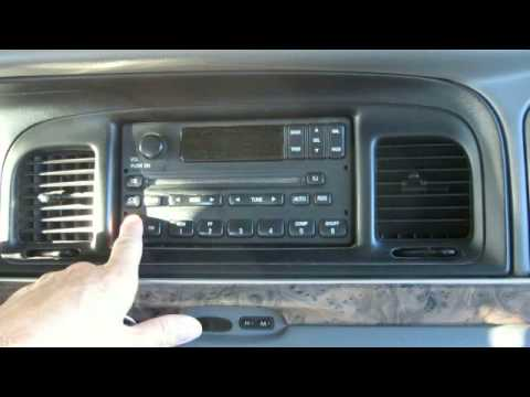 1996 ford windstar fuse diagram bmw e39 audio wiring radio removal 1994 to 2003 youtube