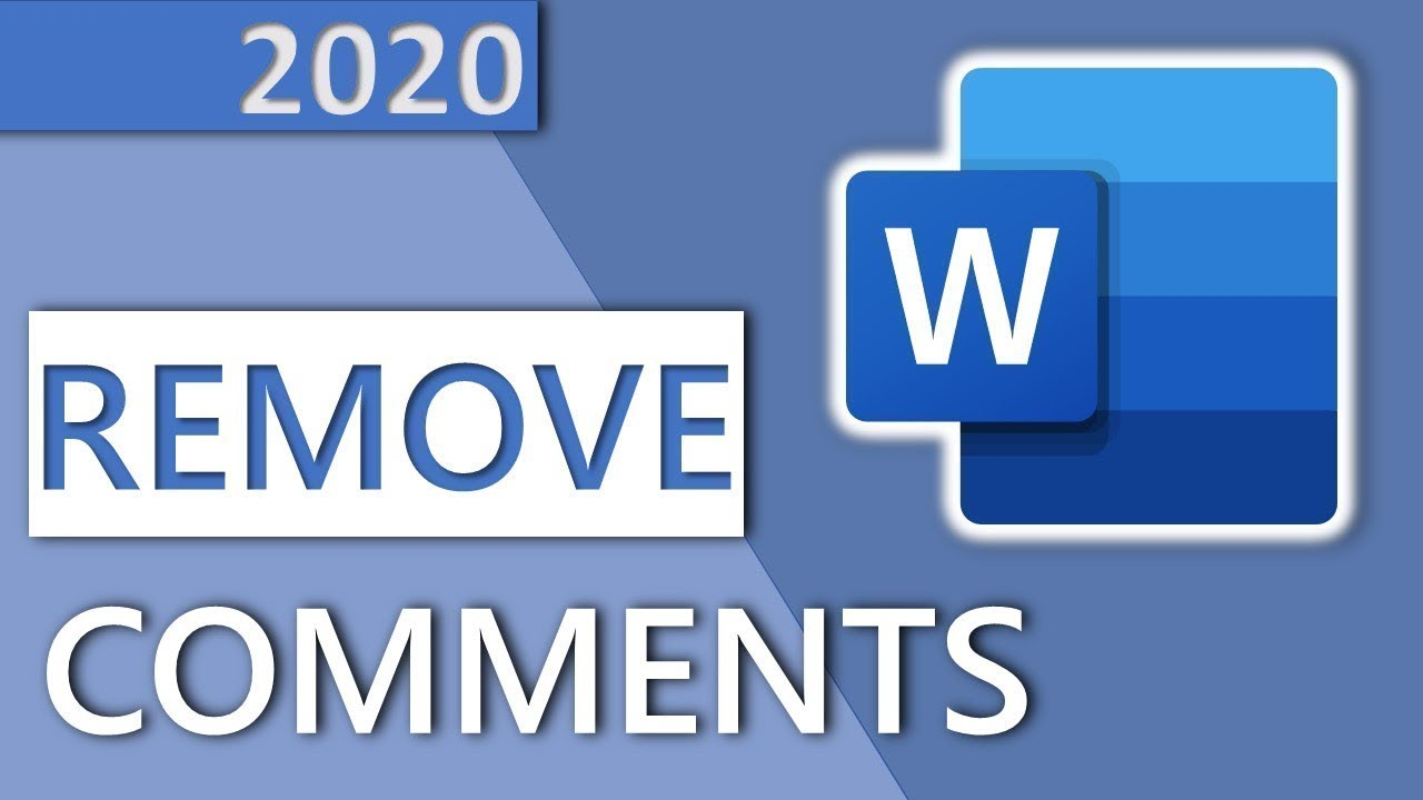 How To Remove Comments In Word Or Hide Comments In 1 Minute Hd 2020 Youtube