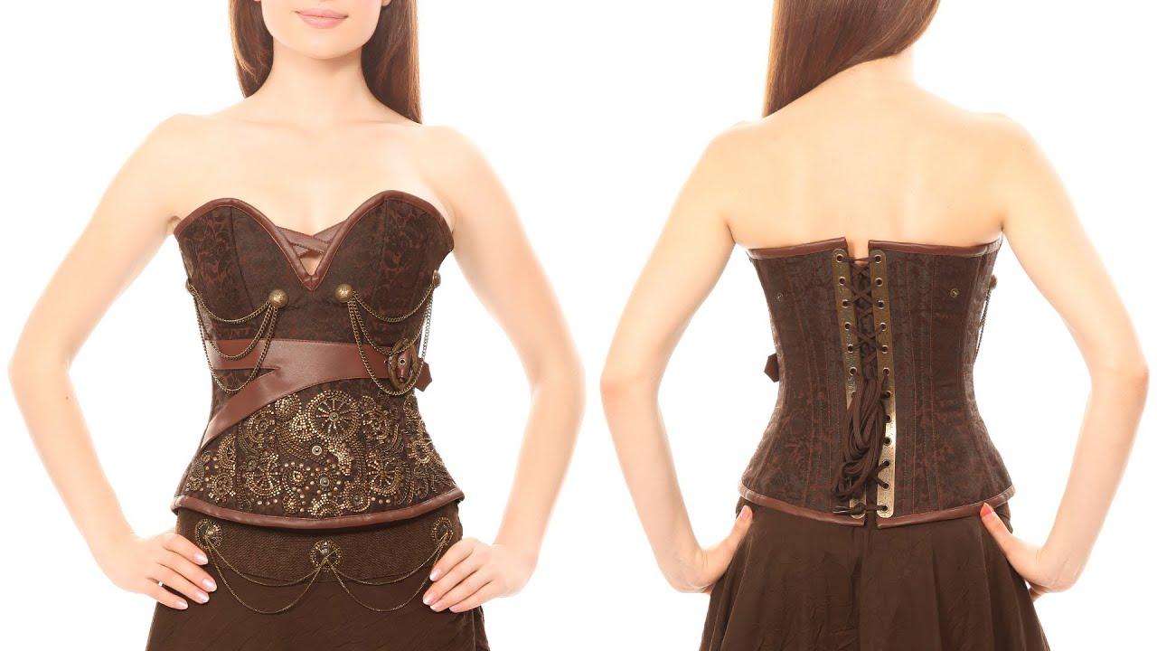 575cba3ed06 VG-102  Vintage Goth brocade overbust corset