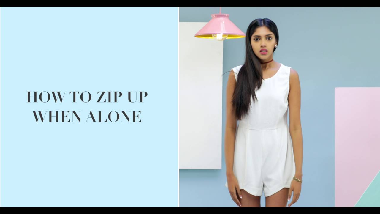 How To Zip Up A Dress All By Yourself - YouTube