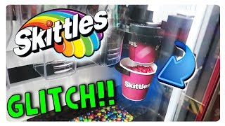 INSANE SKITTLES VENDING MACHINE GLITCH (YOU WONT BELIEVE WHAT HAPPENED)