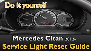 Mercedes Citan: Service Light Reset Guide by Service guide