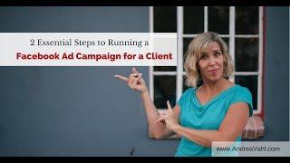 تشغيل Facebook Ads للعميل - 2 خطوات أساسية