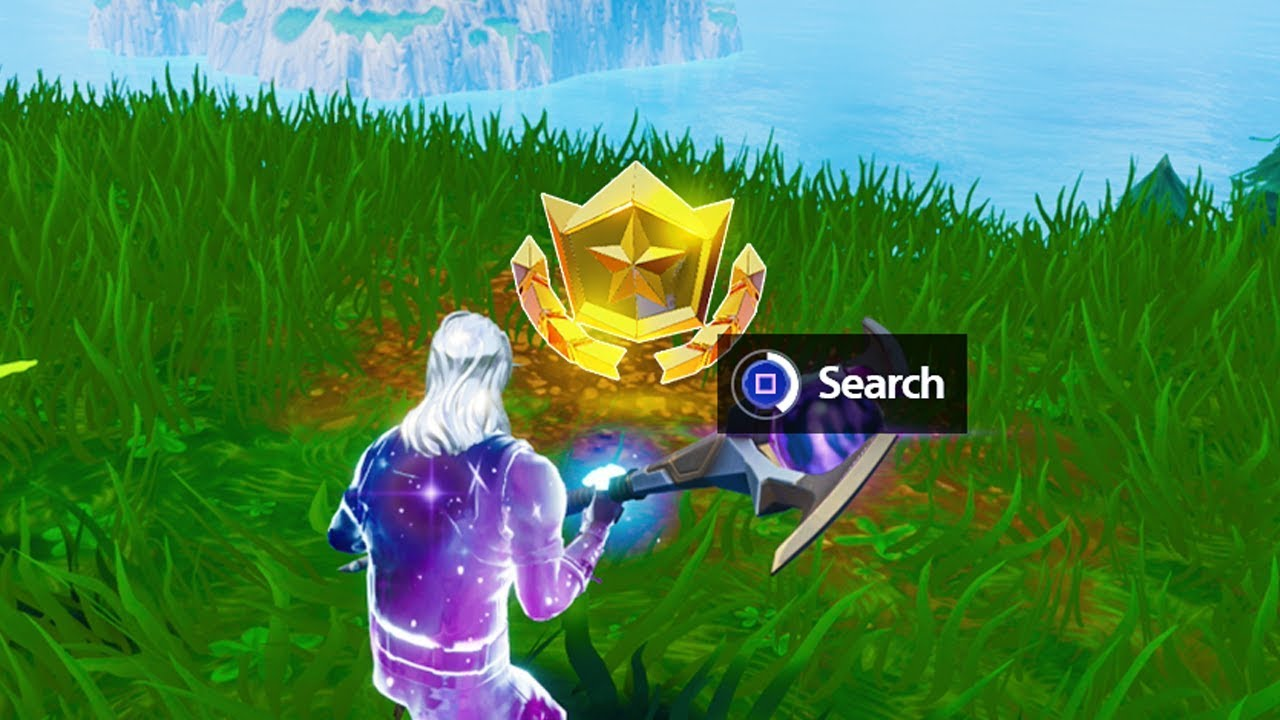Search Between Three Oversized Seats Fortnite Location Week 8 Battle Star Fortnite Star Location Youtube