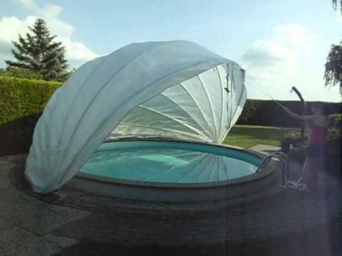 Schwimmbad berdachung swimming pool abdeckung flexiro for Bestway pool for koi