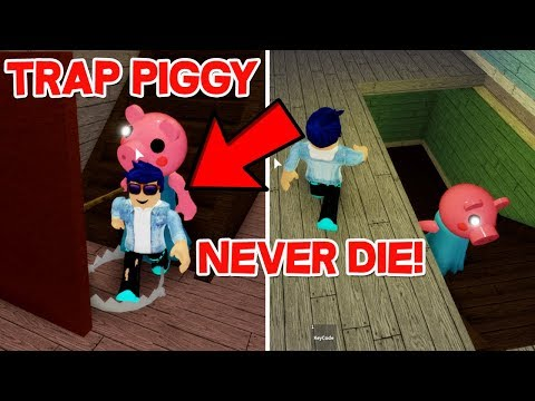 HOW TO TRAP PIGGY GLITCH! NEVER GET CAUGHT BY PIGGY!!! - Piggy Roblox (Horror Game)