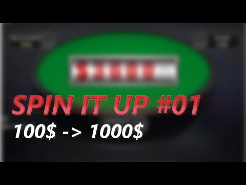 Spin IT UP #01 - 100$ auf 1000$ ⇒ Die Challenge beginnt (GER / Poker)