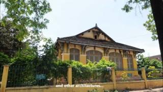 Cambodia Battambang Architecture バッタンバンの建築物を訪ねる