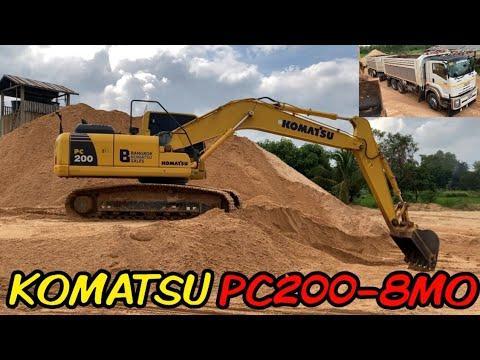 KOMATSU PC2008MO ตักทรายใส่พ่วง FXZ360 (มุมข้างคนขับ)ท่าทรายโชคอุทัย Excavator EP.139