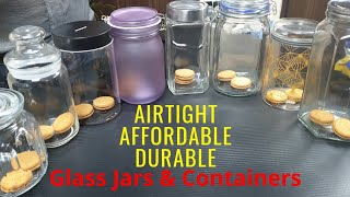 Best Airtight Glass Food Storage Jars & Containers for Kitchen