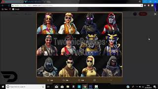FORTNITE ALL NEW SKINS,BACKBLINGS,CONTRAILS AND NEW IMPULSE GRENADE FOR UPDATE V5 30