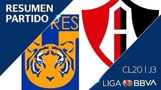Resumen y Goles | Tigres vs Atlas | Jornada 3 - CL 2020 | Liga BBVA MX