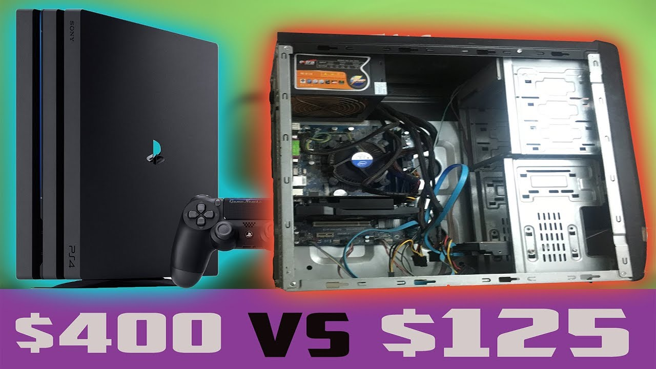 $400 PS4 PRO VS RX 460/560 GAMING PC UNDER $150 - Console Killer On A  BUDGET ?!