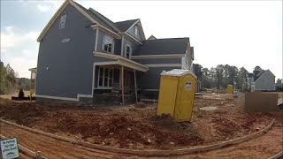 Porta Potty Review New Home Construction with some Graffiti  -  Raleigh, NC - March 5, 2016