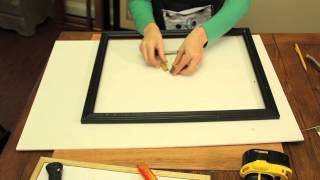 How To Touch Up Wood On A Picture Frame : Picture Frame Crafts