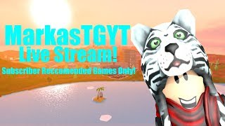 🔴 Roblox Livestream! | Subscriber Recommended Games Only! | MarkasTGYT Stream