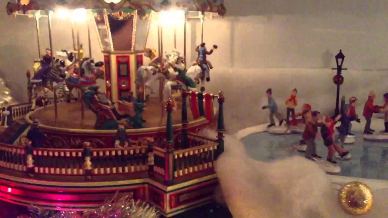 HD Mr. Christmas carousel and ice skating rink   Doovi