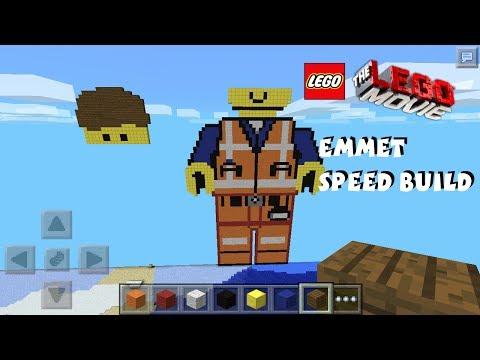 Emmet The Lego Movie Pixel Art Minecraft Pocket Edition