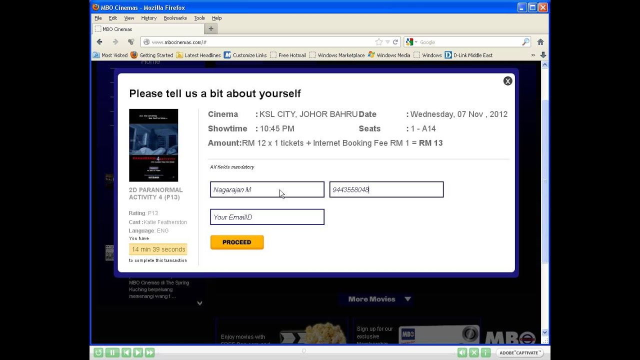 Mbo Cinemas Booking Tickets By Selecting A Movie Youtube