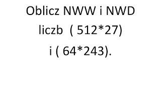 Oblicz NWW i NWD liczb | Matura rozszerzona Operon zadanie 2 s.9