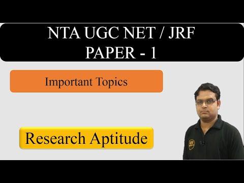 CBSE UGC NET Exam (JRF) Research Methodology Paper 1