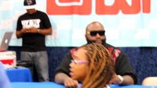 Rick Ross Signing autographs at J&R part 1
