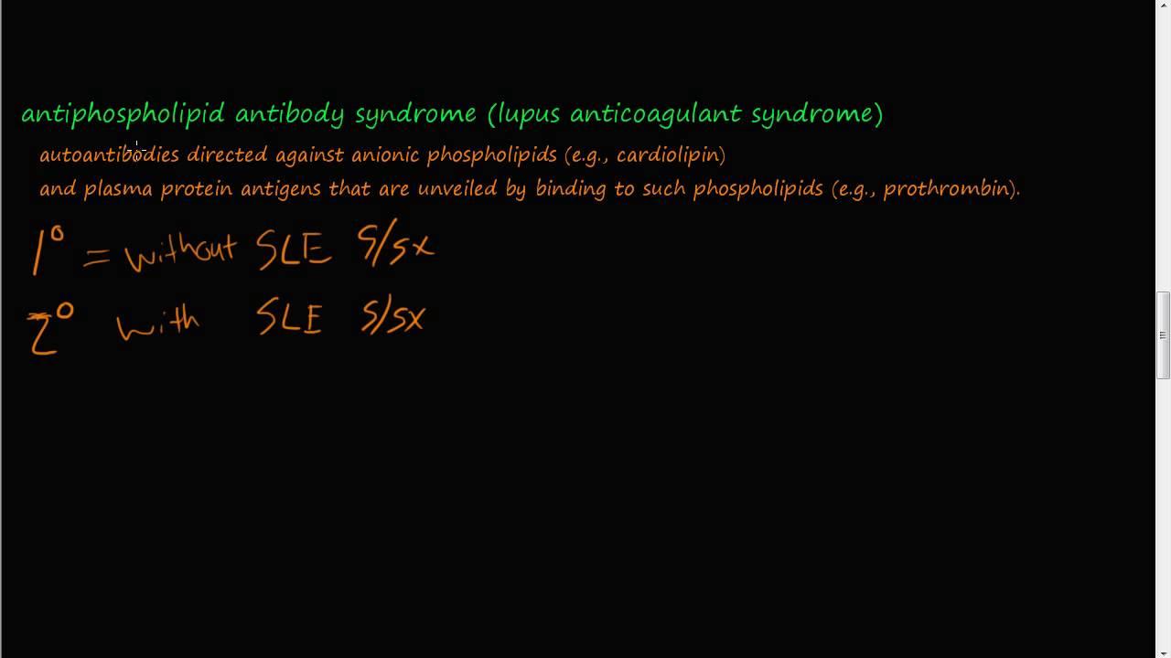 lupus antikoagulans syndrom