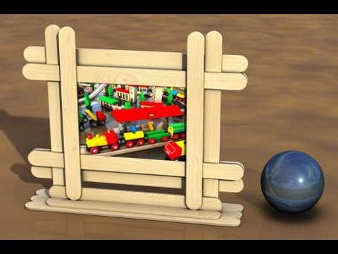 How To Make Style Picture Frame Using Popsicle Stick - Craft For Kid ...