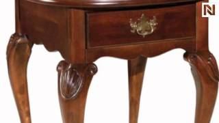 Kincaid 60-029 Carriage House Oval Drawer End Table