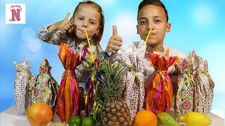 ОБЫЧНАЯ ЕДА против СЛАДКОЙ ГАЗИРОВКИ Челлендж АНАНАС имбирь ЛАЙМ Real Food vs Soda Challenge