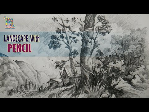 Simple Landscape Sketching and Shading With PENCIL | Pencil Drawing | Pencil Art