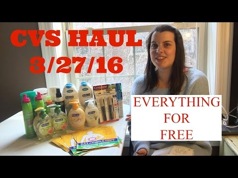 CVS Haul 3/27/16 ~ EVERYTHING FOR FREE