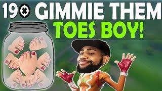 TAC SHOTGUN IN SPRAY META   GIMMIE THEM TOES BOY! - (Fortnite Battle Royale)