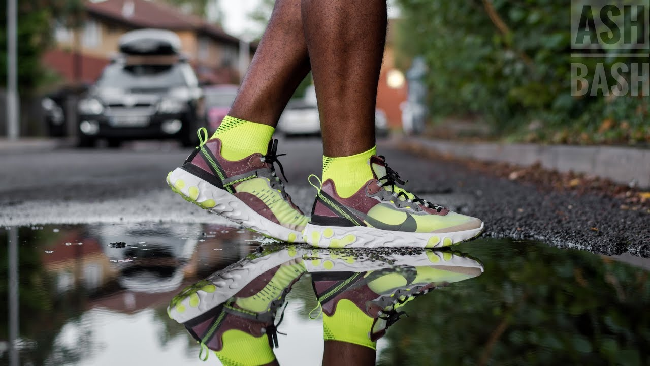 prezzo base andare online comprare Review + On Foot | Nike React Element 87 'Desert Sand' | Ash Bash ...
