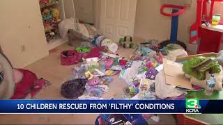 PD: 10 kids rescued from \'horrible conditions\'; parents arrested